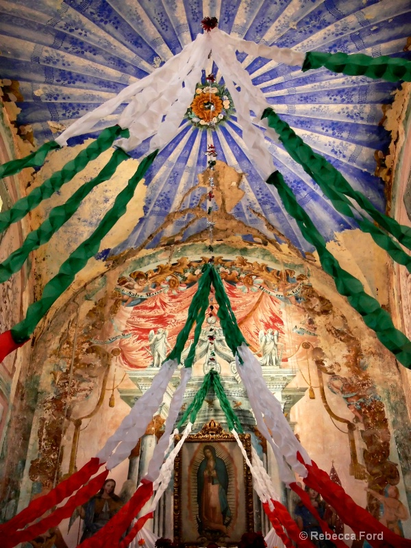 Real de Catorce Church Ceiling