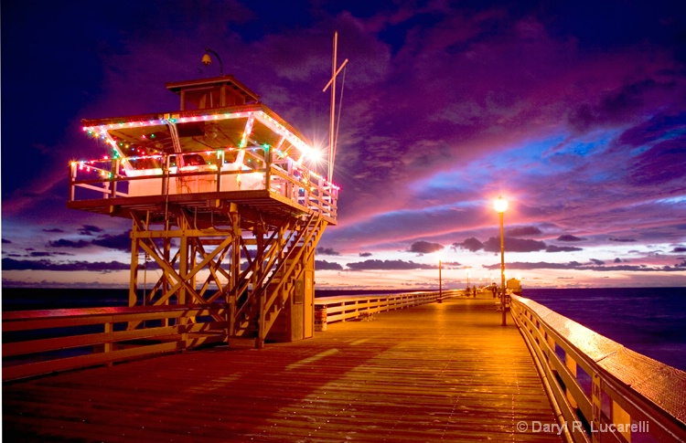 SC Pier Tower Sunset by JL