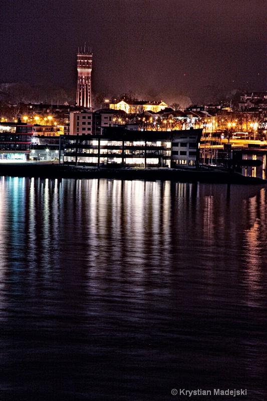 Kalmar view from Oland's bridge