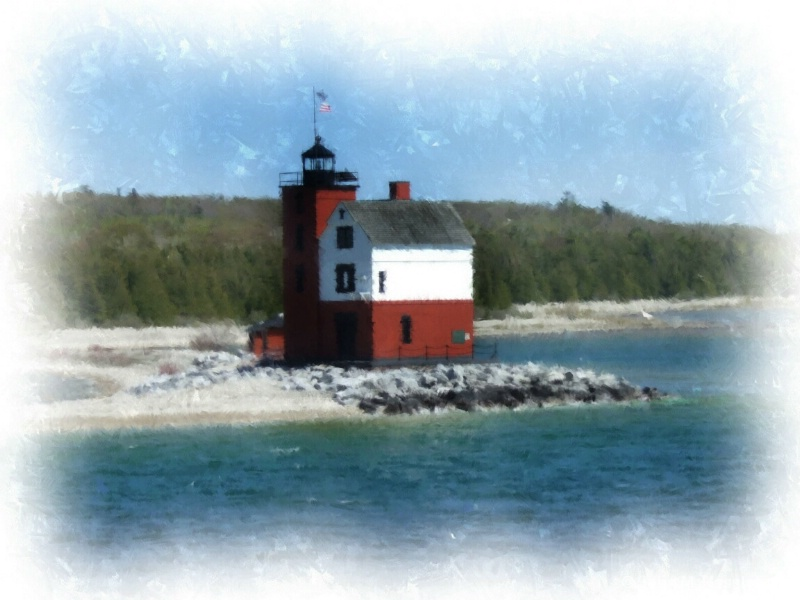 Round Island Lighthouse, Mackinac Island, MI