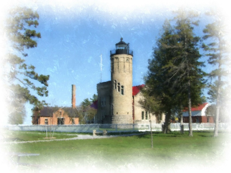 Old Mackinac Point Lighthouse, Mackinaw City. MI