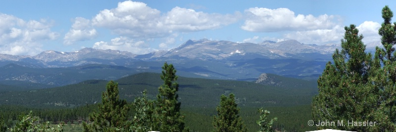 Panorama of the Rocky Mountain Range