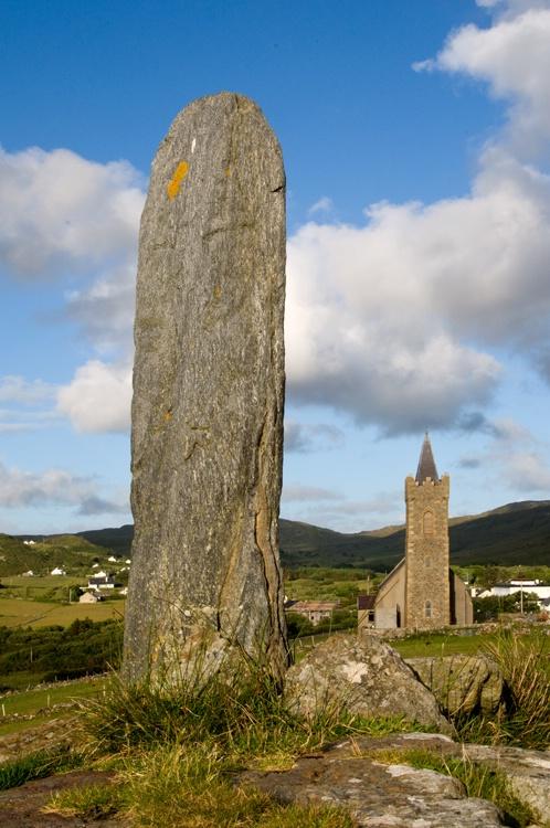 Celtic Stone and Church_ Glencolumkille