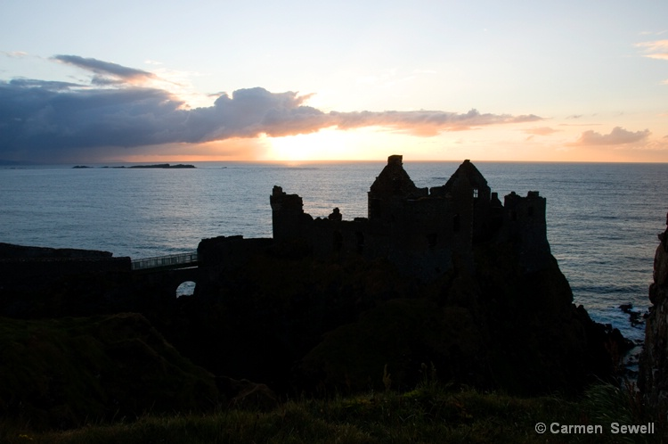 Dunluce Castle at Sunset