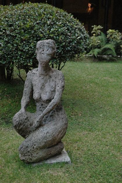 statue outside Quito hotel