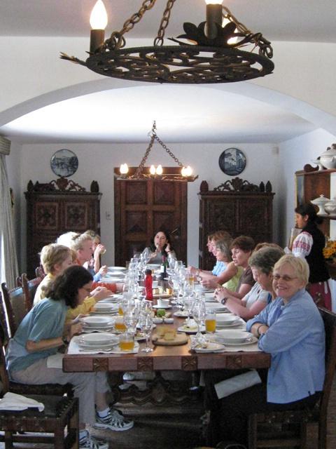 lunch at Hacienda Zuleta