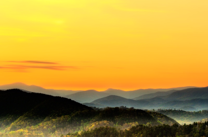 The Great Smoky Mountains at Sunrise