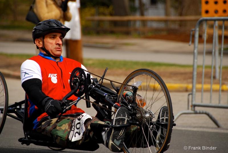 Wheelchair racers 3; Boston Marathon