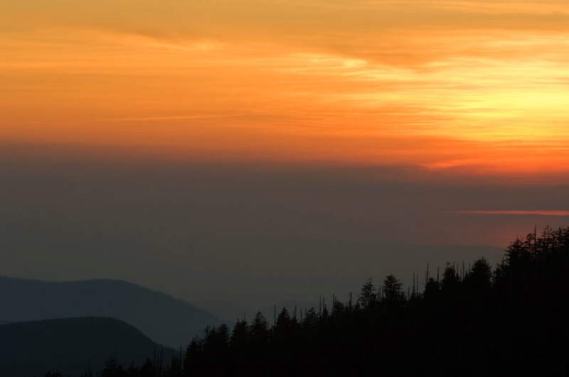 Sun Down Clingmans Dome