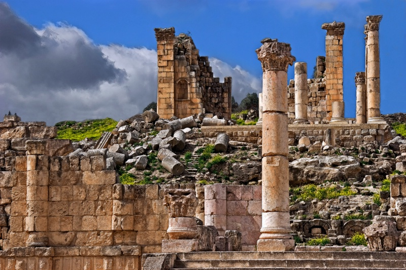 Temple of Zeus - Jerash, Jordan