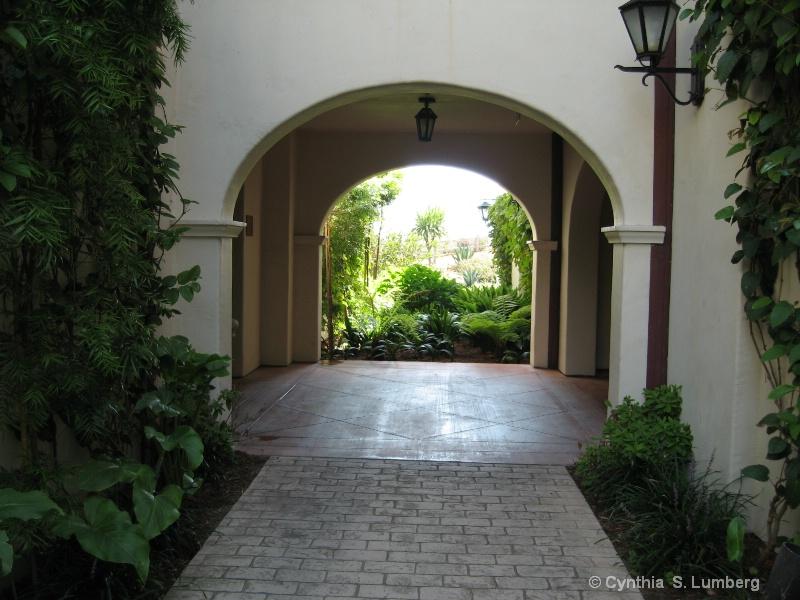 Arch Way at  the Bacara