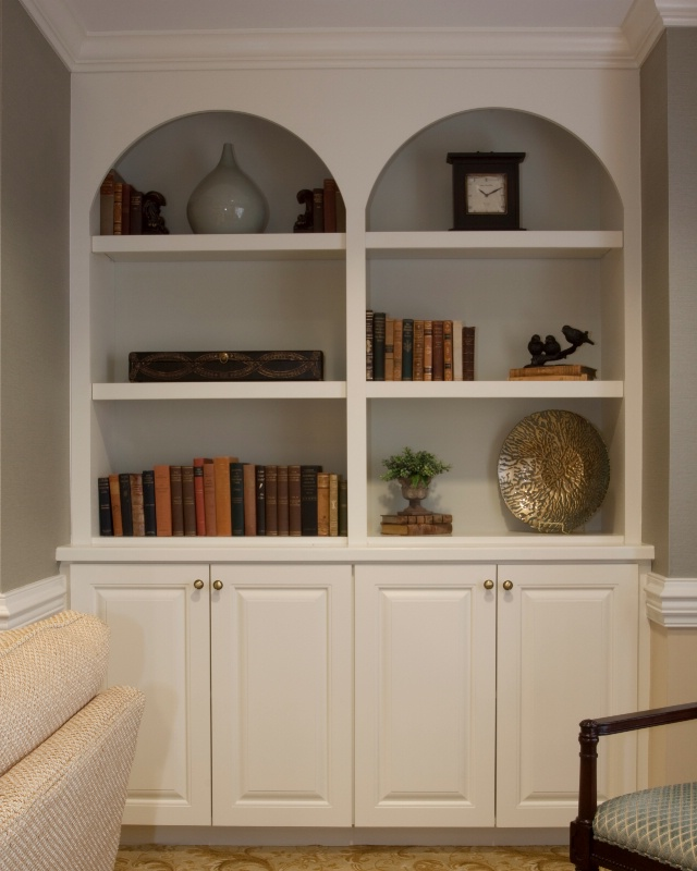 entrance bookcases