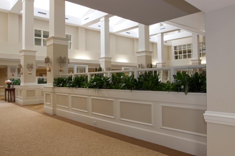 lounge planter walls
