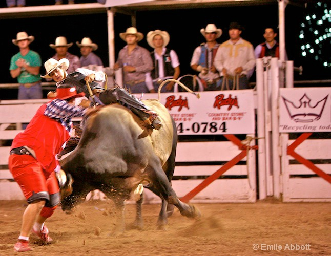 Bullfighter/Clown alway there