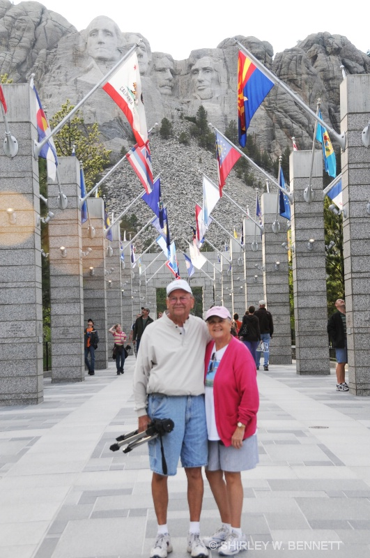 WARREN AND SHIRLEY AT AVENUE OF FLAGS.