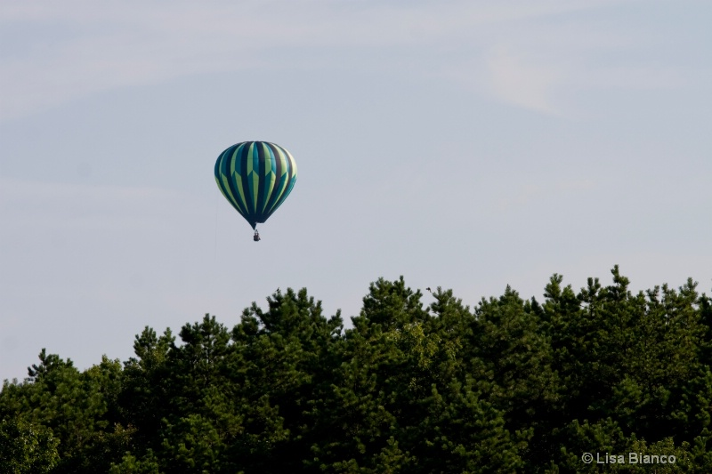 green balloon from festival