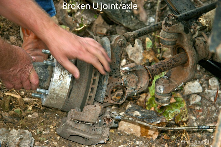 Broken U joint