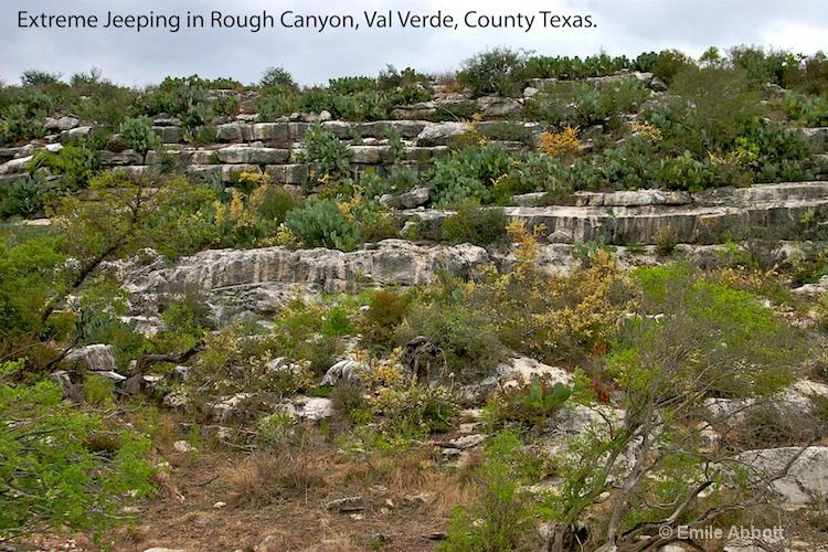 Terrain in Rough Canyon, Val Verde Co. Texas