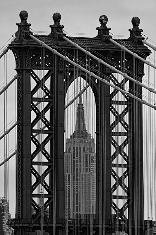Empire State Framed by Manhattan Bridge