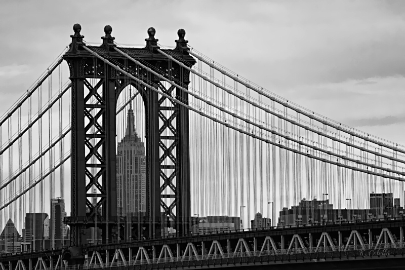 Manhattan Bridge Frames Empire State Building