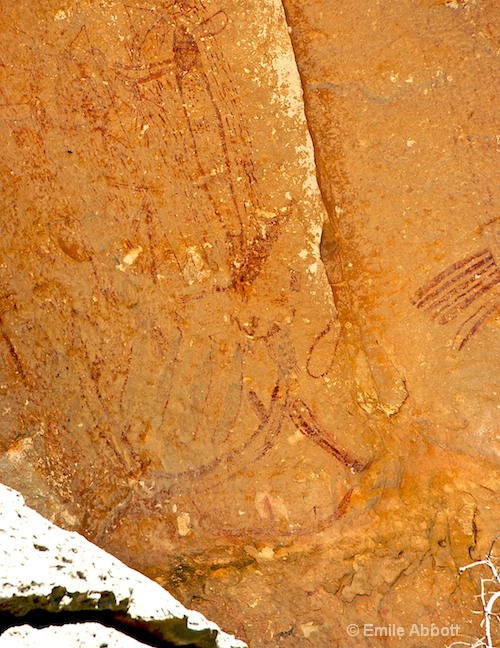 Pictographs prior to entering the shelter