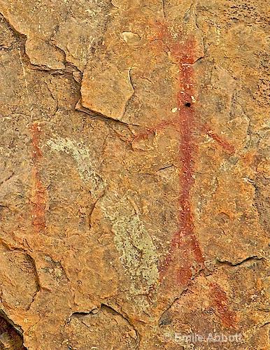 Red Monochrome Style Rock Art