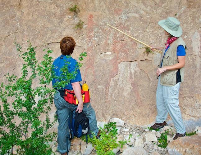 Dr. C. Boyd explains the pictographs