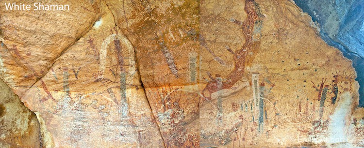 White Shaman Wall Pictographs
