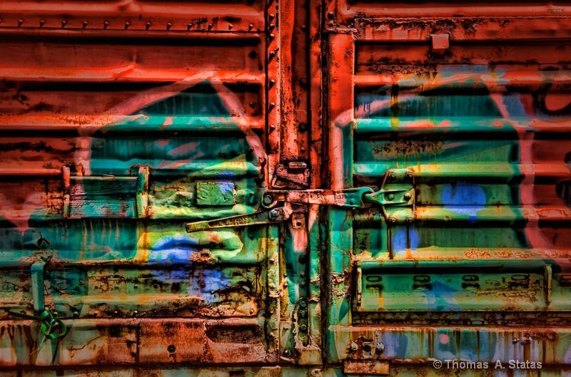 Train Door Grunge