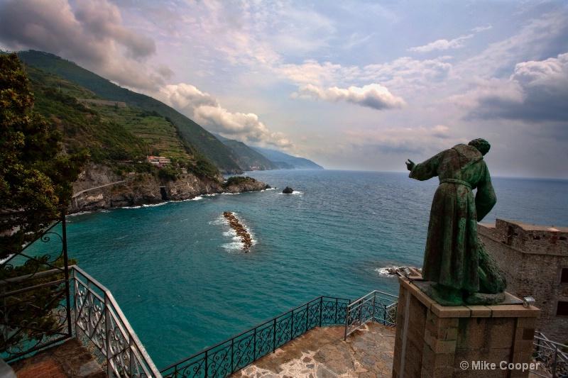 Monk statue from Cinque Terra Convernt - Liguria