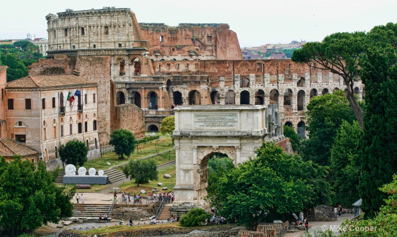 Coliseum and Arch of Titus
