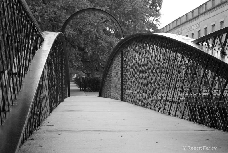 footbridge in the AM