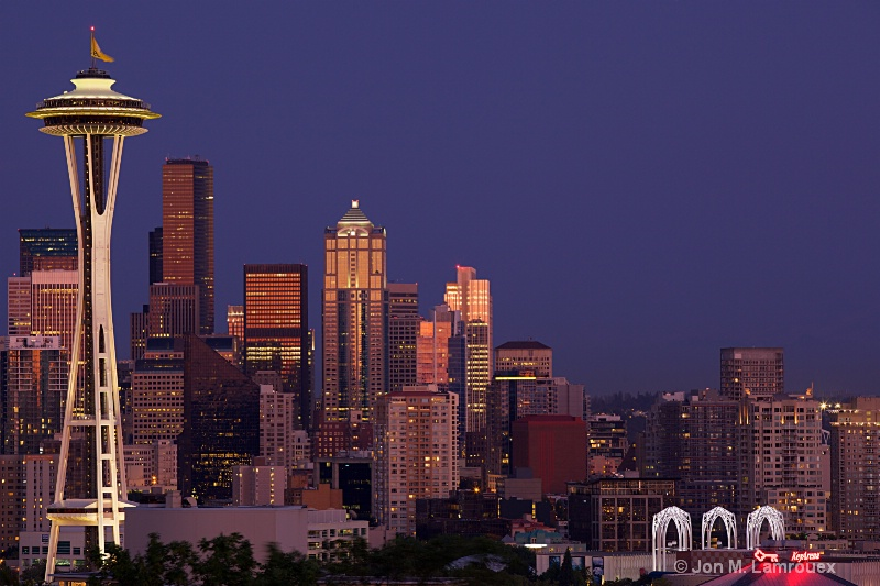 A Classic of Seattle at Twilight