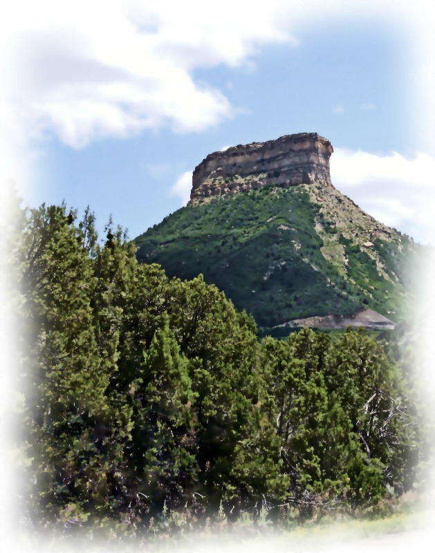Butte at Mesa Verde Park Entrance