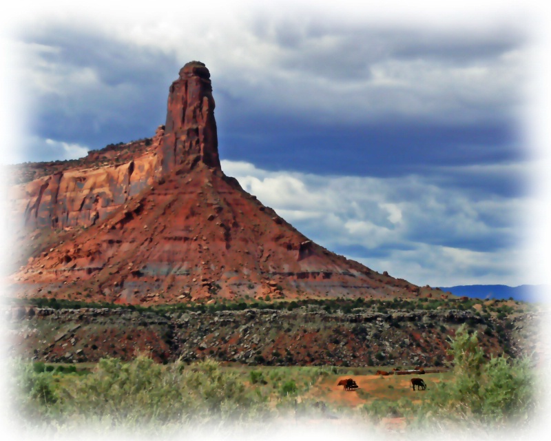 Pinnacle on the road to Canyonlands, UT