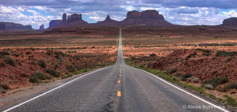 Lonely Highway Landscape