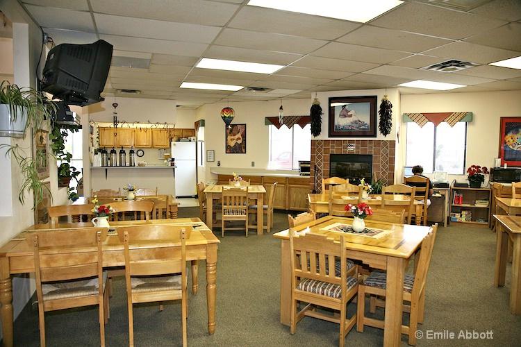 Inside lounge and breakfast area