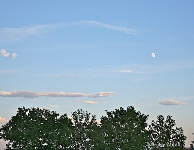 Moon over the RV park