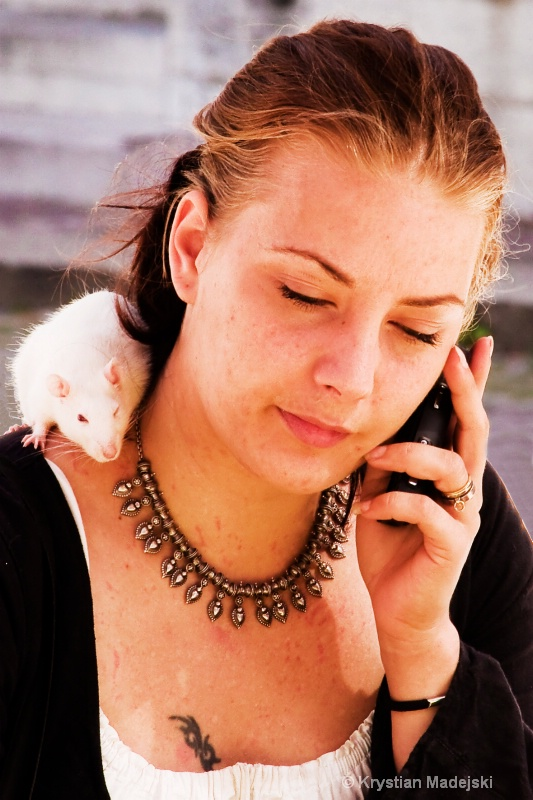 Girl and rat