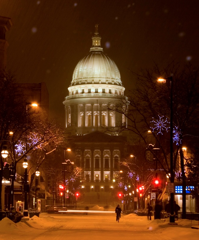 Capitol in Snowstorm