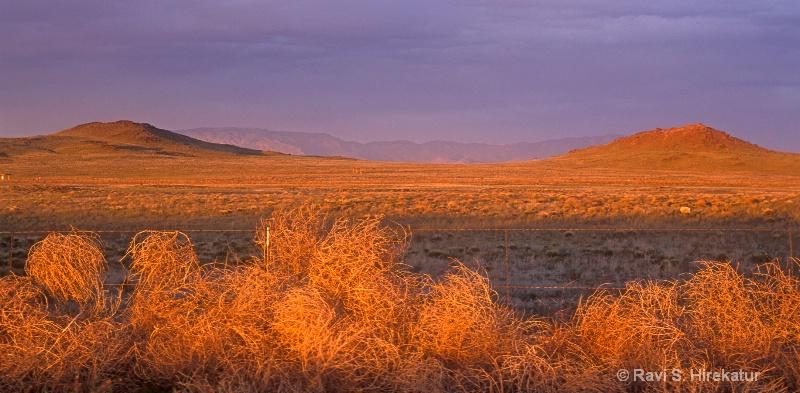 Sunset at west Mesas
