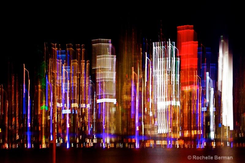 Miami  Night Abstract