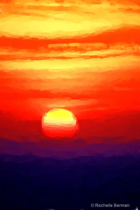 Vivid Vertical Sunset