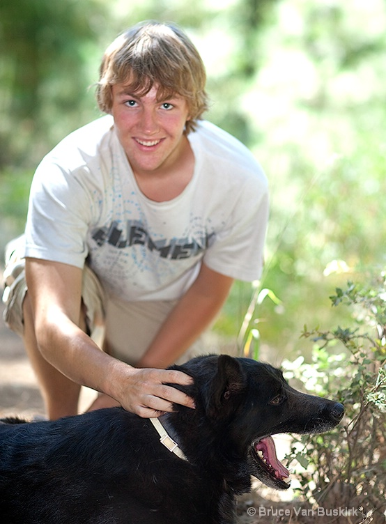 My son David and his Dog Cooper