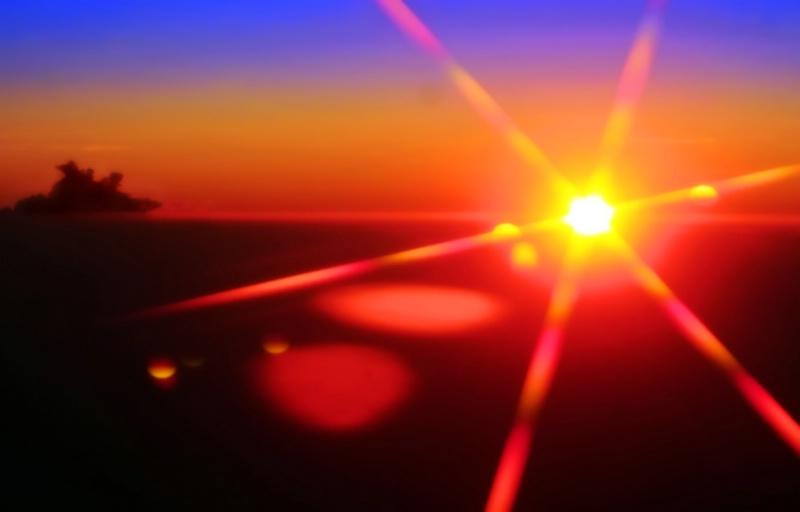 sunrise at thirty-three thousand