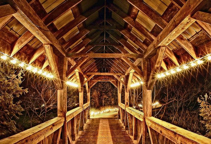 Under the Lighted Bridge