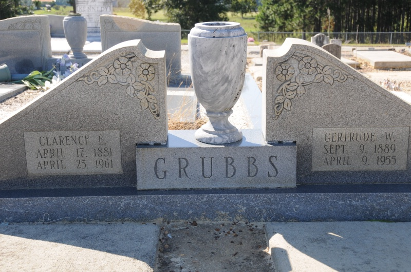 TOMB OF CLARENCE GRUBBS