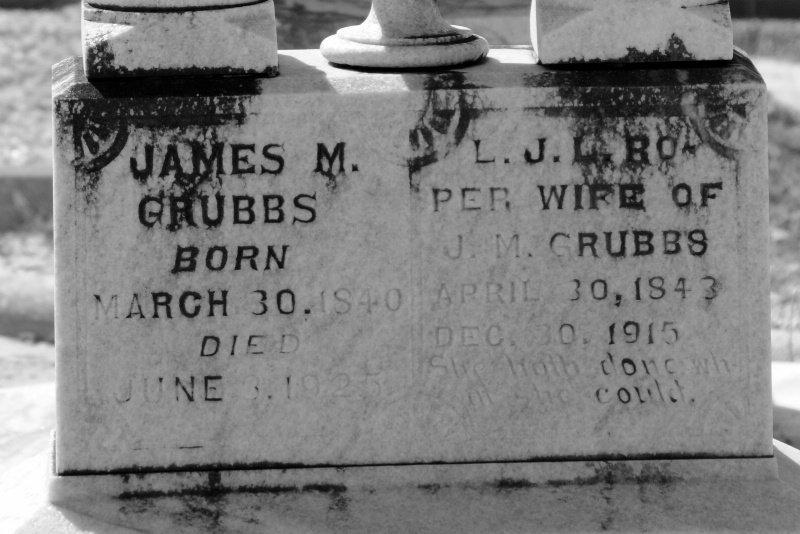 THE TOMBSTONE OF GREAT-GRAND FATHER