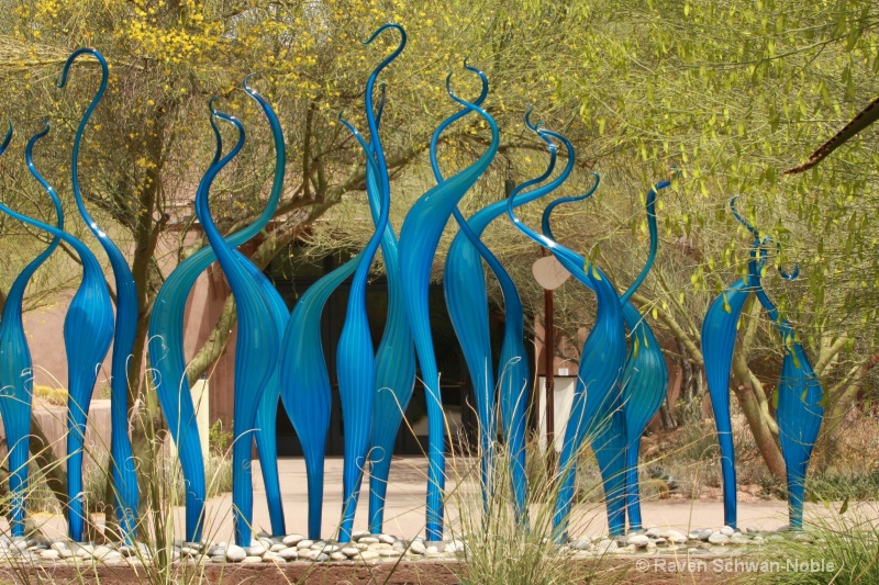 Blue Glass Flames