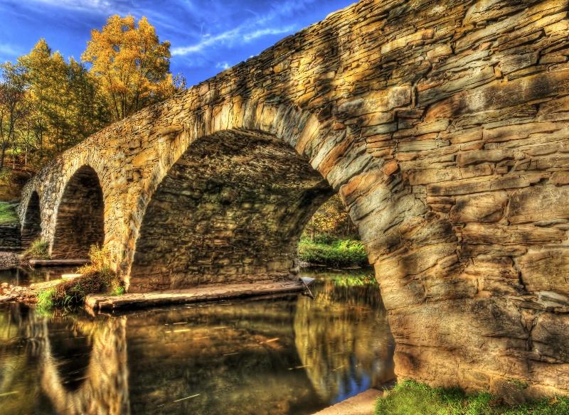 Stone Arch Bridge in Fall